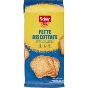 fette biscottate classiche schar senza glutine e senza lattosio