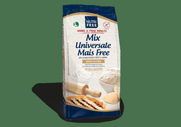 Mix universale mais free nutrifree senza glutine e senza lattosio