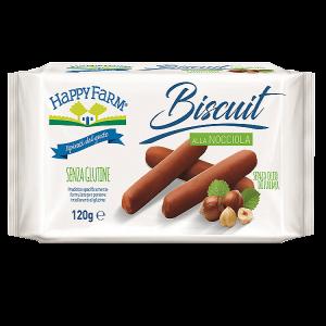 Biscuit nocciola happy farm senza glutine