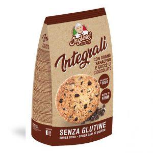 Biscotti integrali grano saraceno e gocce di cioccolato Inglese senza glutine e senza lattosio