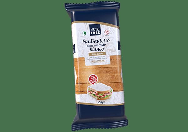 Panbauletto pane bianco nutrifree senza glutine e senza lattosio