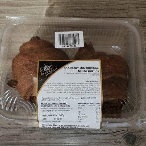 Croissant multicereali senza glutine, senza lattosio e vegano
