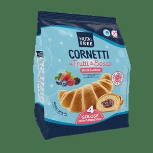 Cornetti ai frutti di bosco nutrifree senza glutine e senza lattosio