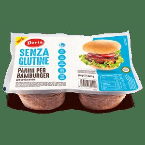 panini hamburger doria senza glutine e senza lattosio