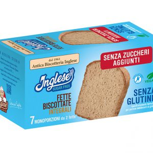 fette biscottate integrali inglese senza zuccheri aggiunti, senza glutine e senza lattosio